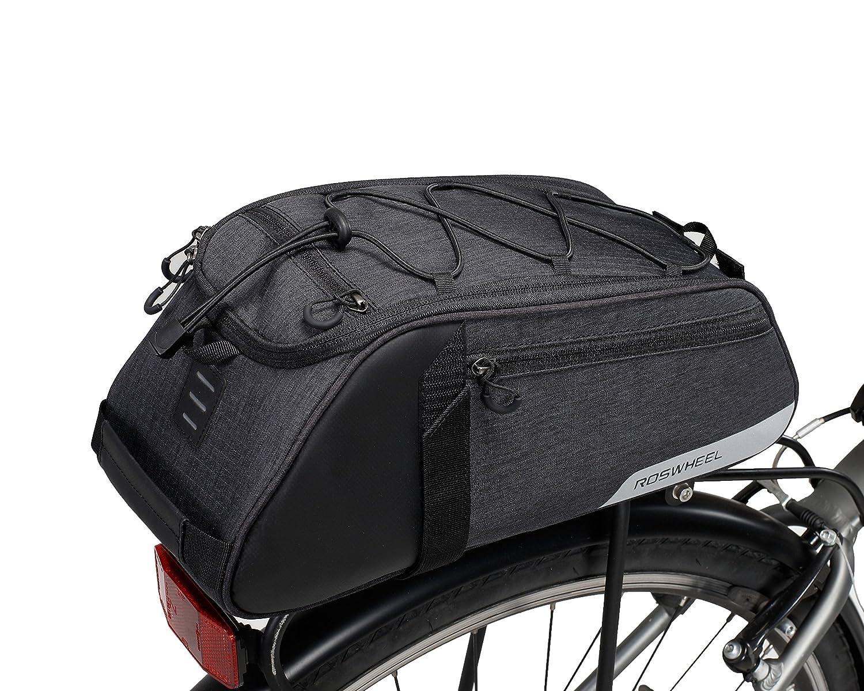 VERTAST Borsa posteriore bici - per rastrelliera portapacchi da bici, Impermeabile Portapacchi Bagagli Borse Multi Funzione Borsa per il Viaggio in Bicicletta, Nero2