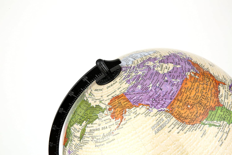 10 Inch Illuminated Premium Antique Desktop World Earth Globe 25cm