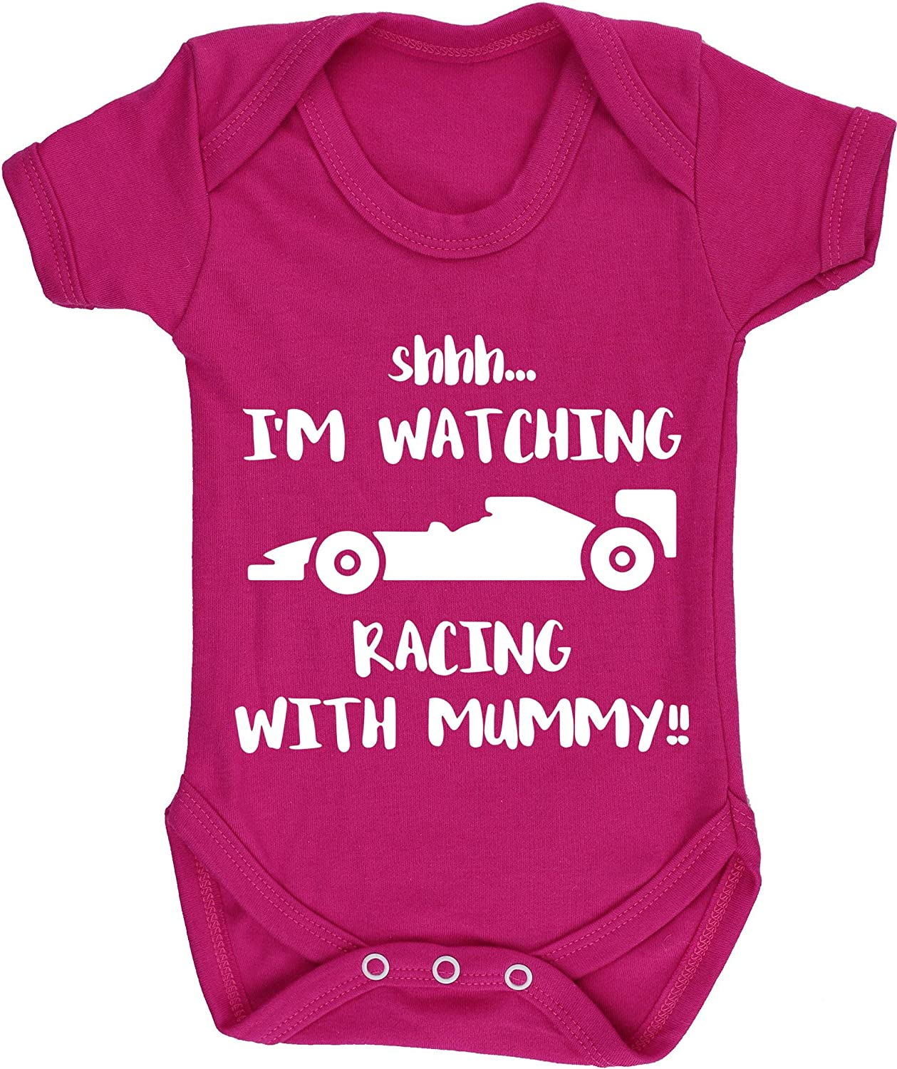 Baby Romper All in one Piece Unisex Hippowarehouse Shhh Im Watching Racing with Daddy!