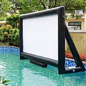 Sewinfla Upgraded Outdoor Movie Screen 15ft- Airtight Design Inflatable Movie Projector Screen for Outdoor/Indoor Use - No Need to Keep Inflating - Supports Front and Rear Projection