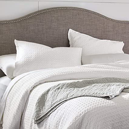 Stone & Beam 100% Cotton Soft Waffle Texture Transitional Gemma Duvet Comforter Cover Set