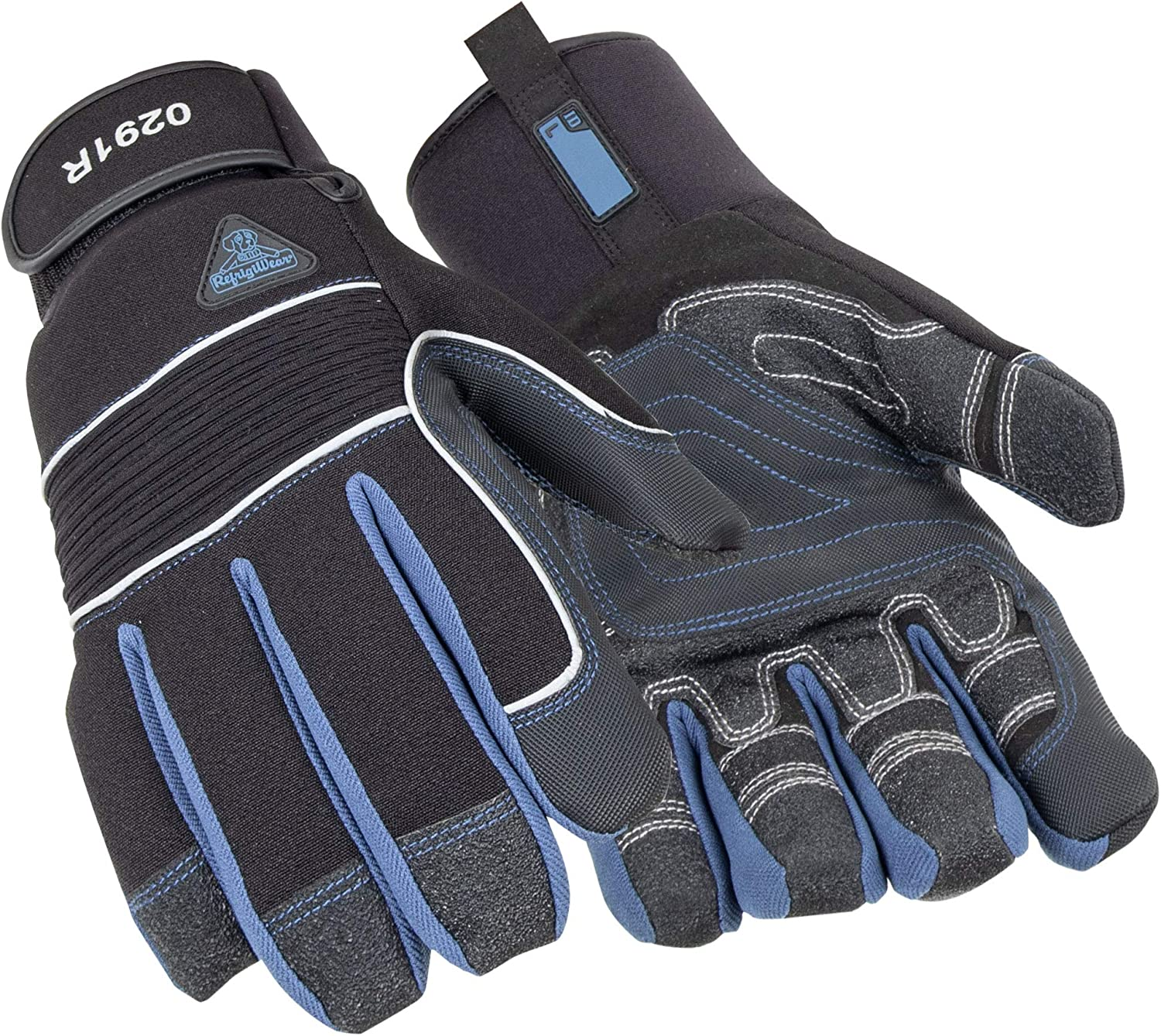 RefrigiWear Waterproof Insulated Iron-Tuff Gloves with Grip and Abrasion Pads