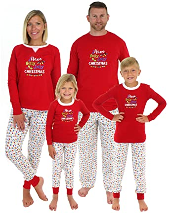 sleepyheads family matching holly jolly christmas lights pajama pj sets kids shm 5010