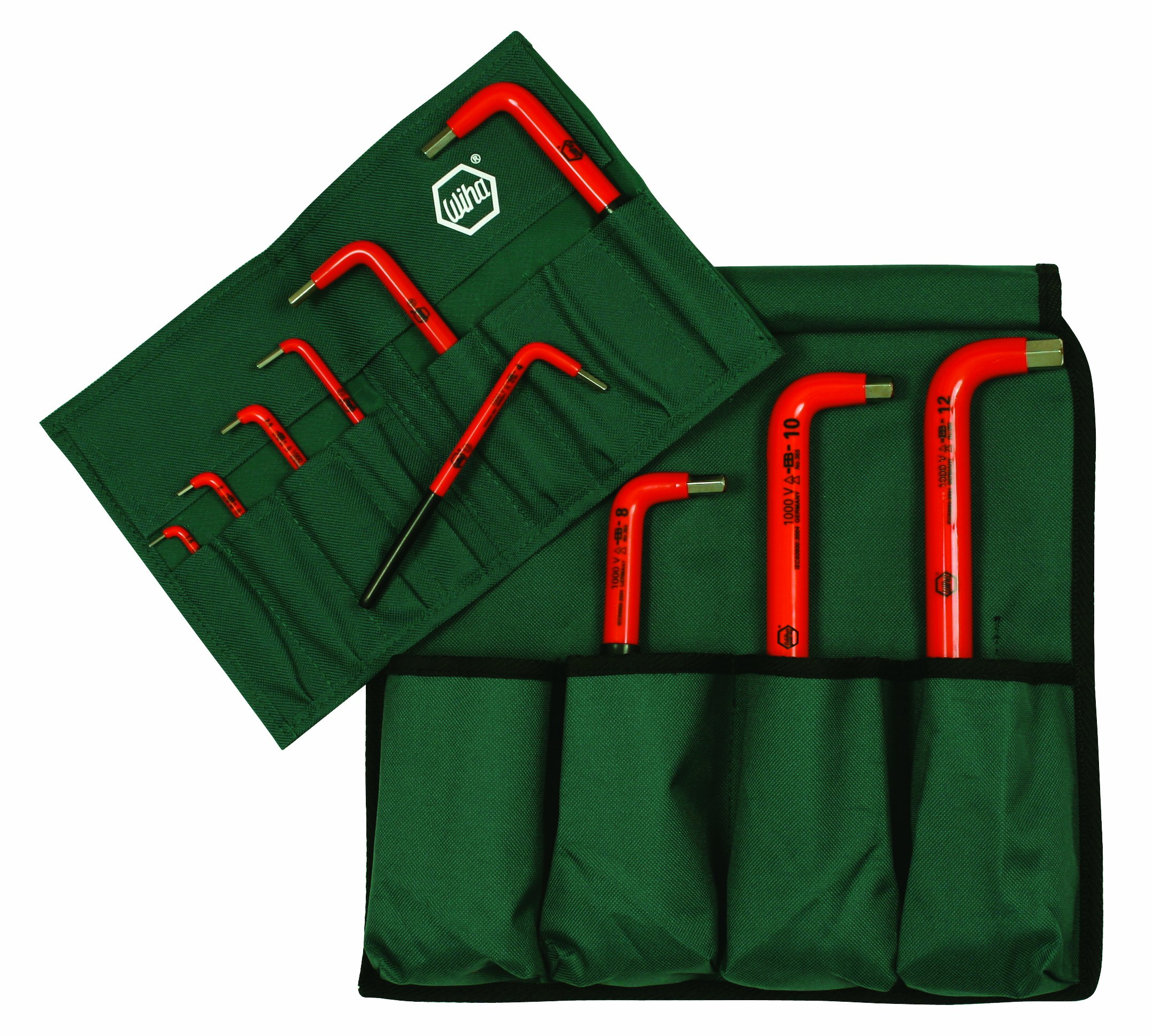 Wiha 13693 Insulated Metric Hex L-Key Set, 1.5-12.0mm 10 Piece In Canvas Pouch