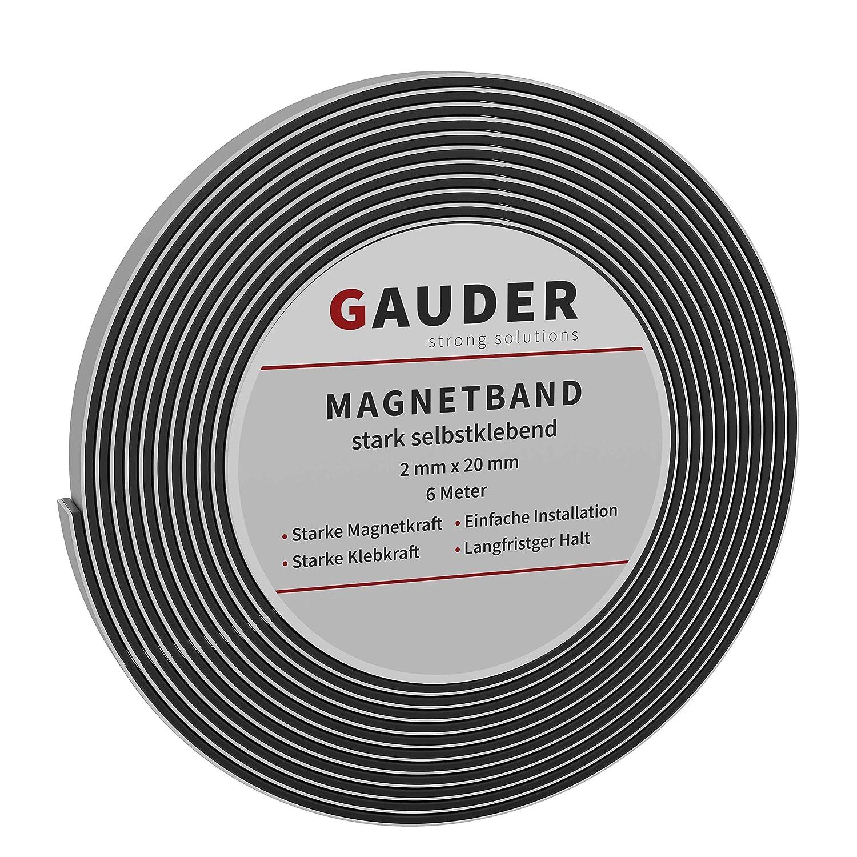 GAUDER Cinta Met/álica Autoadhesiva para Imanes Tira Met/álica Adhesiva Banda de Metal Flexible