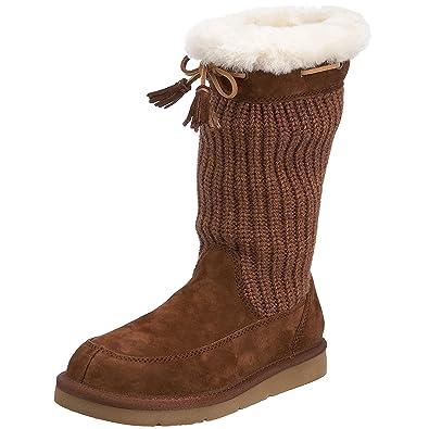 Ugg Australia Womens Suburb Crochet Boot Heathered Brown 5124 4 Uk