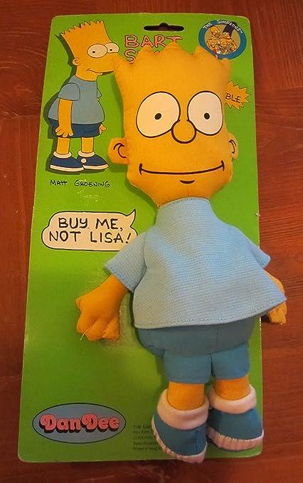 Amazon Com Dan Dee Simpsons Bart Simpson Rag Doll Toys Games