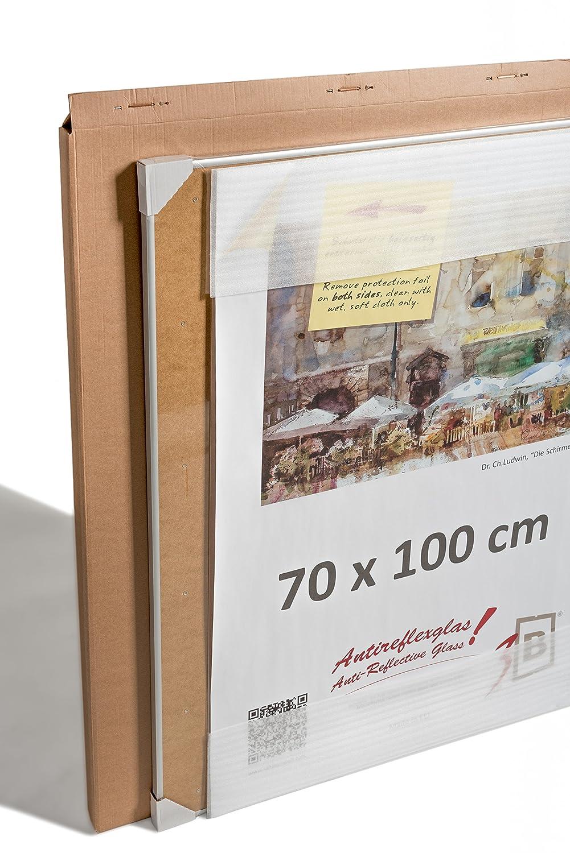 3-B Alu Poster Brushed - Großer Bilderrahmen - mit Antireflex ...
