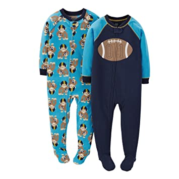 4cde5cbf55 Image Unavailable. Image not available for. Color  Carters Boys Footie  Pajamas Sleeper ...