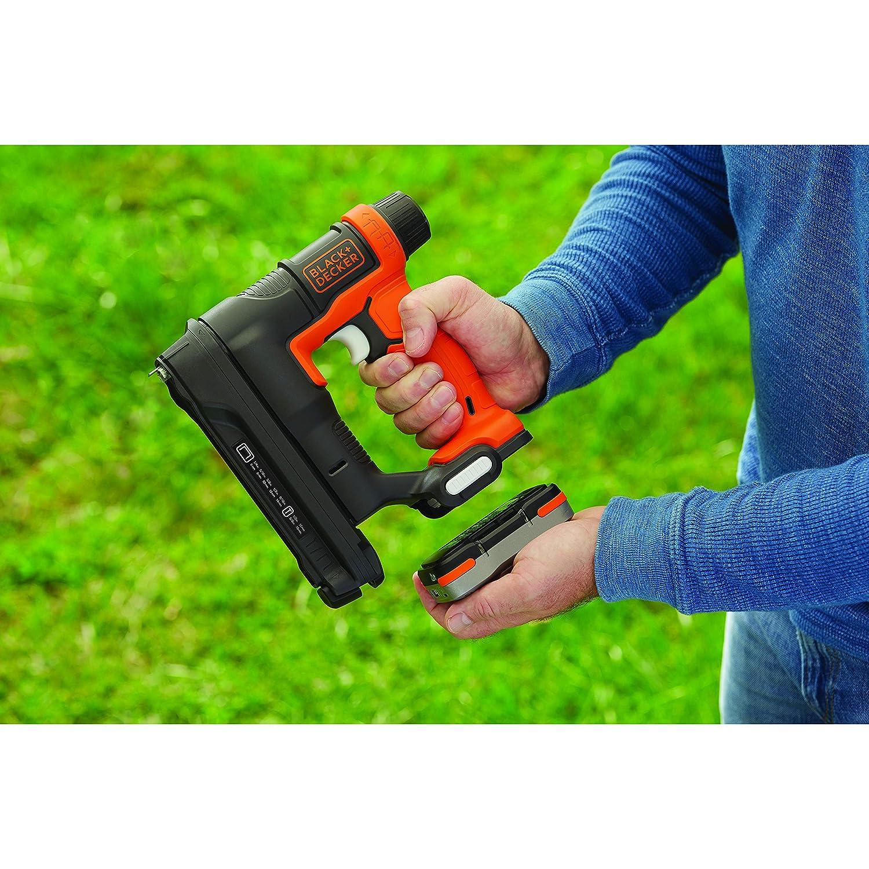 BLACK+DECKER BDCT12N-XJ clavos 12 y 15 mm acepta grapas 6-14 mm Grapadora clavadora 12 V