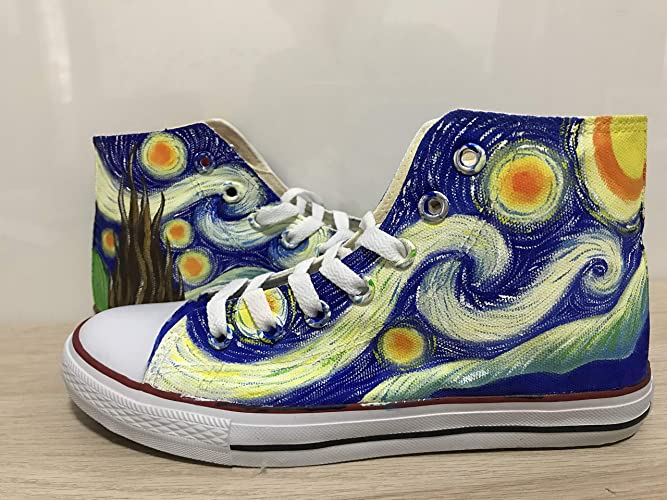 d0f9eb95811798 Amazon.com  Van Gogh Shoes Vincent van Gogh Custom Shoes For Men Painted  Shoes Custom Chuck Taylors Men Women FREE SHPPING  Handmade
