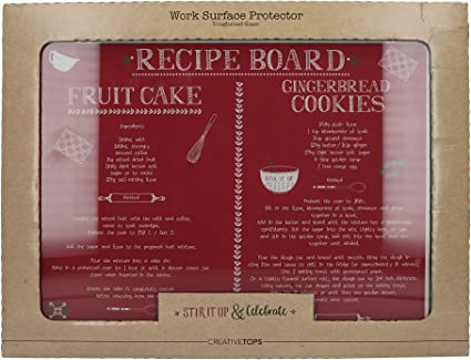 Creative Tops Bake Stir it up surface de travail protecteur en verre trempé Blanc