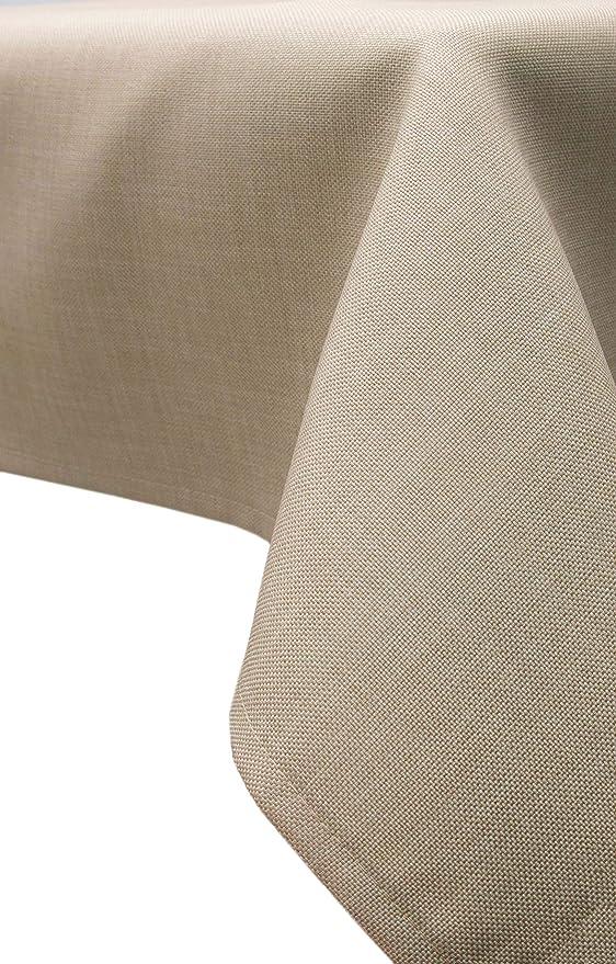 ZOLLNER® Mantel Antimanchas Grandes/Mantel Antimanchas Rectangular, Textura de Lino Fino, 140x 220 cm, Rafia, Medidas, del especialista para ...