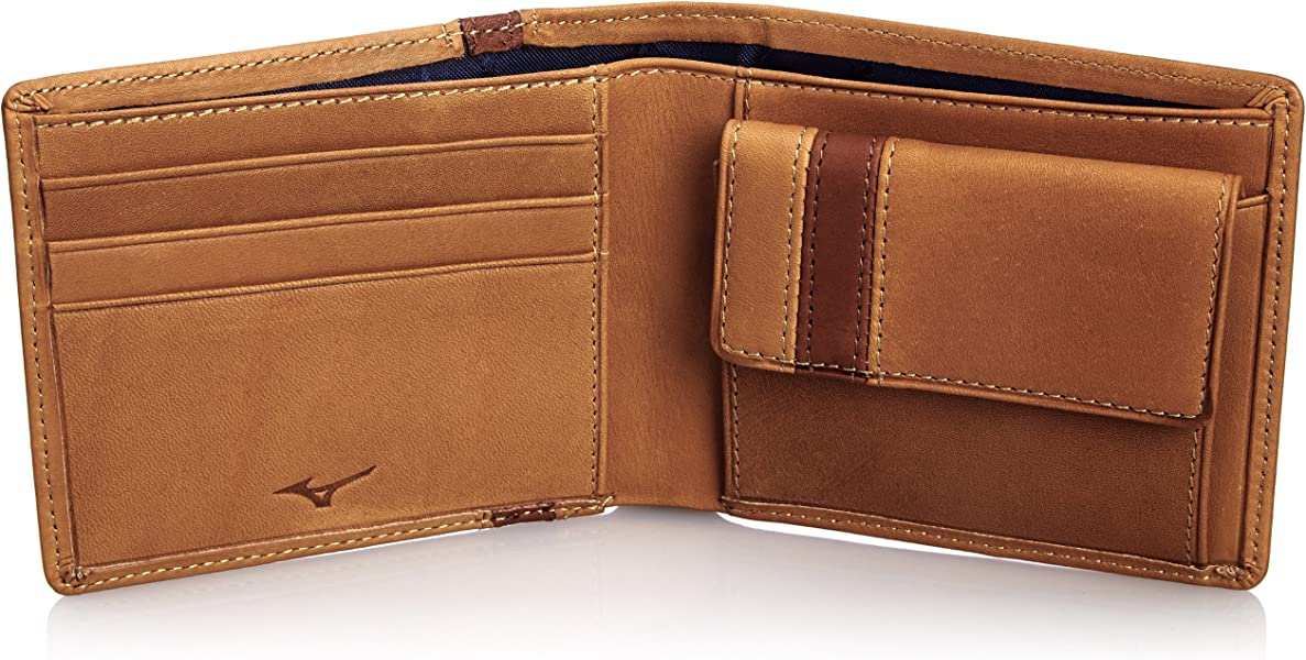 92715a01c6a9 Amazon | [ミズノ] MIZUNO 二つ折り財布(コンビカラー) 1GJYG00901 5931 (USAコルク×チェストナッツ)  (旧モデル) | MIZUNO(ミズノ) | 財布