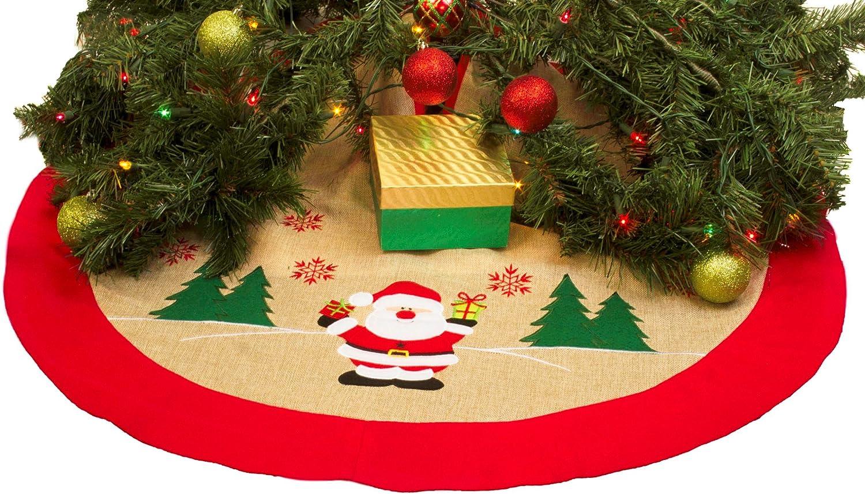 Imperial Home Rustic Burlap Christmas Tree Skirt - 36