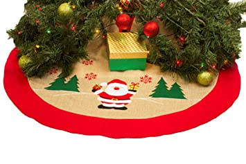 buy popular a24e9 48eec Imperial Home Rustic Burlap Christmas Tree Skirt - 36