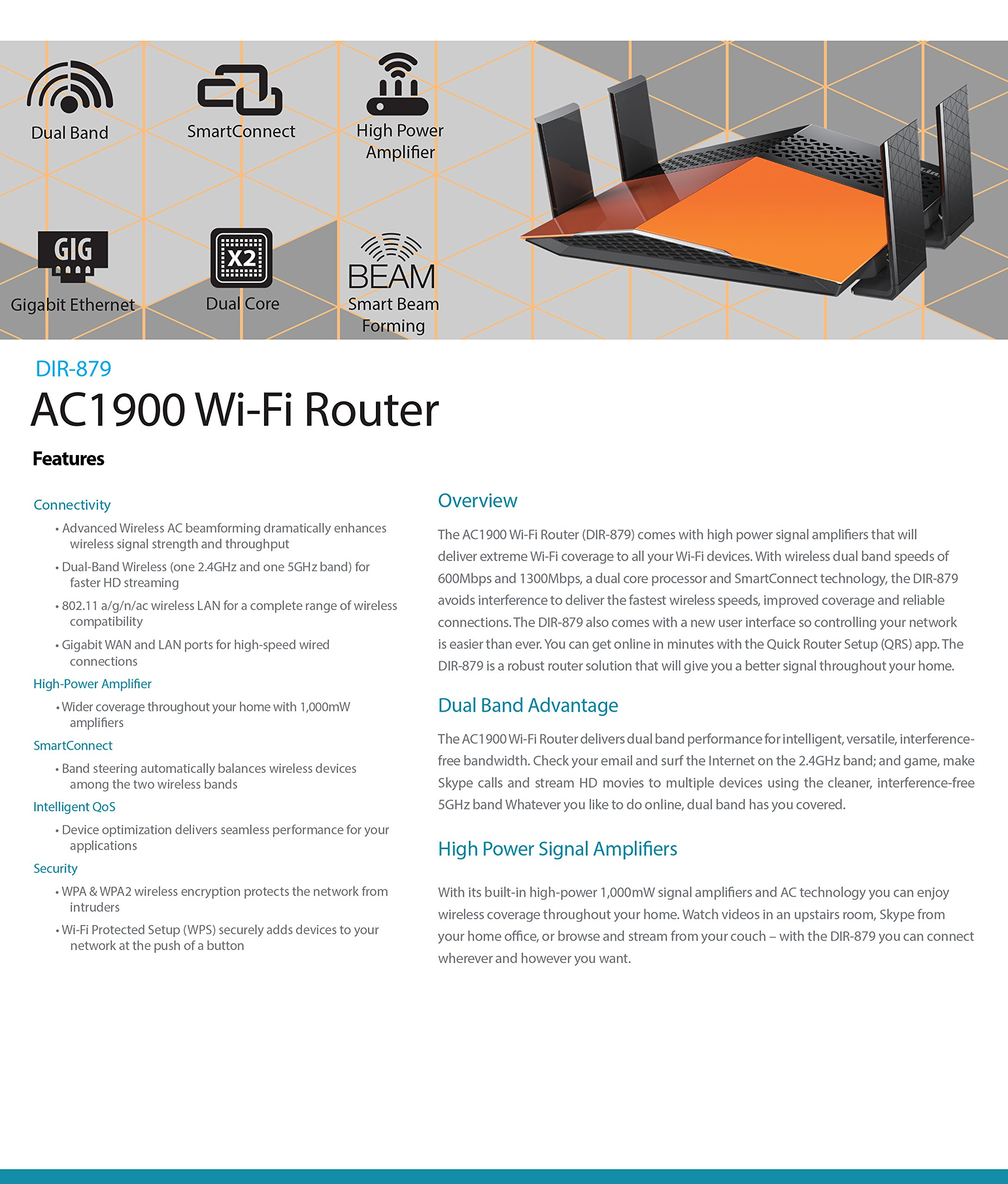 D-Link DIR-879 AC1900 EXO Wi-Fi Router by D-Link (Image #8)