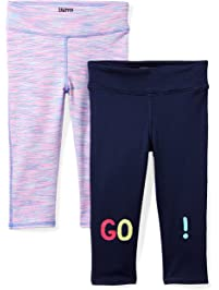 a80b9bad1 Amazon Brand - Spotted Zebra Girls  2-Pack Active Capri Legging