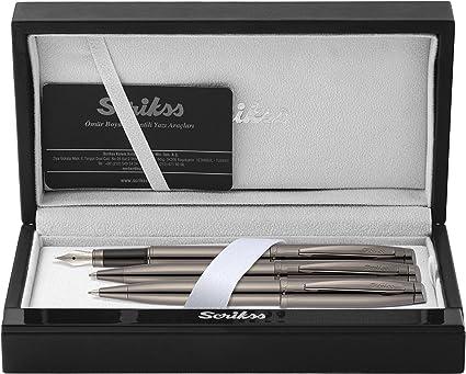 Scrikss Elegance Oscar 39 Titan - Set de escritura (pluma, bolígrafo y portaminas incluidos): Amazon.es: Oficina y papelería
