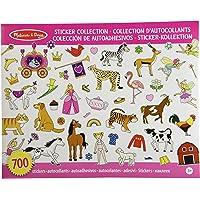 Melissa & Doug Libro de colección de autoadhesivos; artes y manualidades; princesas, fiesta de té, animales, y más; más de 500 pegatinas de animales; 35.56 cm alto x 27.94 cm ancho x 0.508 cm largo