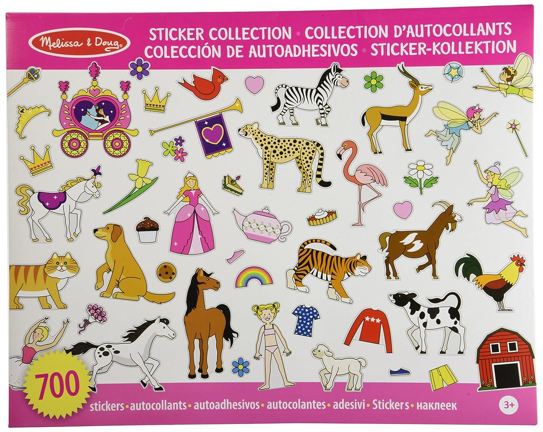 Melissa & Doug Sticker Collection - Color Rosa (10 páginas temáticas con más de 700 pegatinas) 14247
