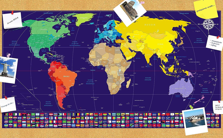 Cartina 1500.Mappe Mappa Dellitalia Da Grattare In Regalo Mappa Del Mondo 82 X 44 Cm Mappa Dellitalia 30 X 42 Cm Mappa Del Mondo Da Grattare Con Bandiere Blu Argento Cancelleria E Prodotti Per