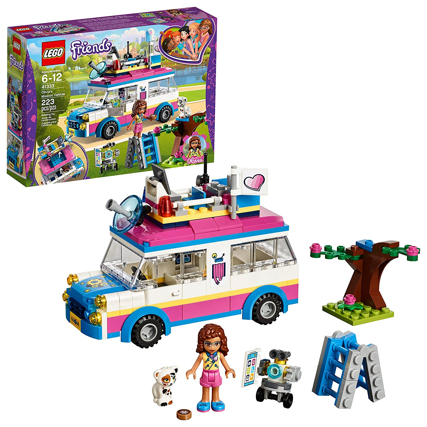 LEGO Friends Olivia's Mission Vehicle 41333 Building Set (223 Pieces)