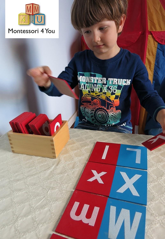 Montessori, Lettere smerigliate
