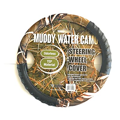 """Infinity Stock Camouflage 14.5""""-15.5"""" 100% Odorless TPE Material Steering Wheel Cover (Muddy Water Camo): Automotive"""