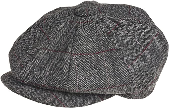 1920s Men's Fashion UK | Peaky Blinders Clothing PEAKY BLINDERS 8 Piece Newsboy Style Flat Cap -Tweed Wool Fabric Variations £30.77 AT vintagedancer.com
