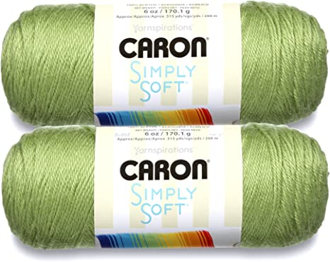 Bulk Buy 2-pack Red Caron Simply Soft Yarn Solids