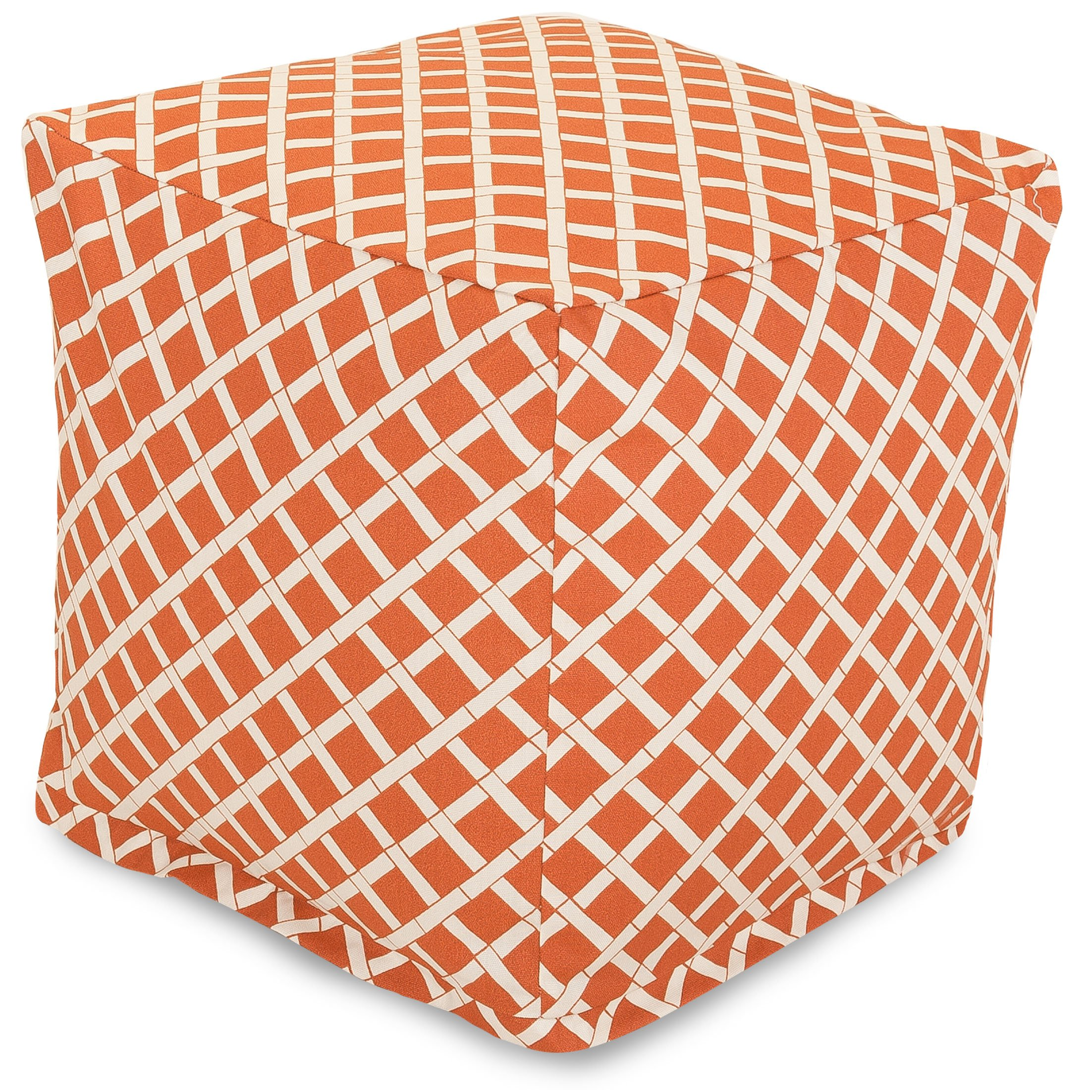 Majestic Home Goods Burnt Orange Bamboo Cube, Small