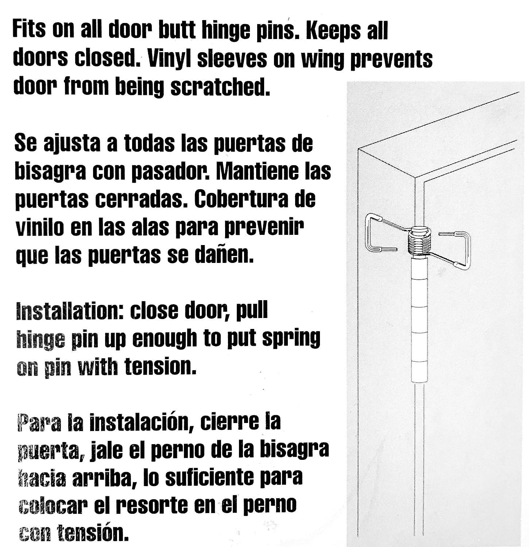 4 Pack Fits on Most Door Butt Hinge Pins Spring Hinge Door Closer