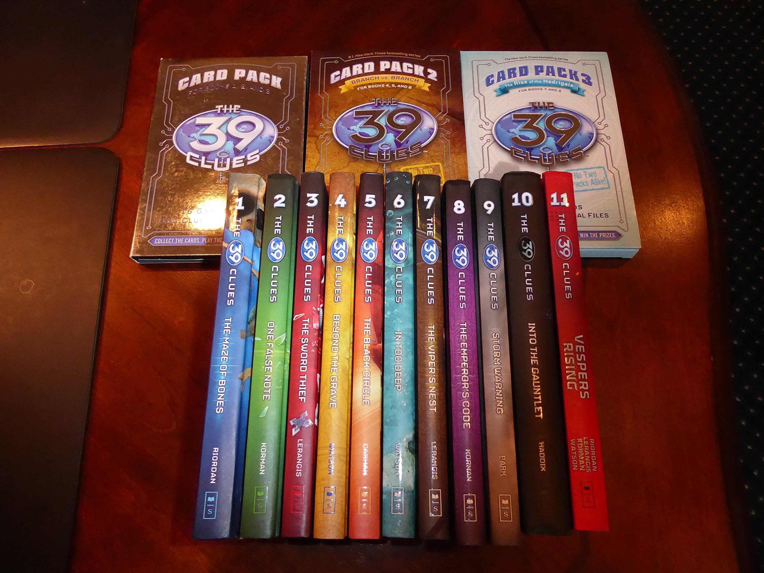 The 39 Clues Set #111 Series 1: Includes 3 Bonus Card Packs: Amazon:  Books