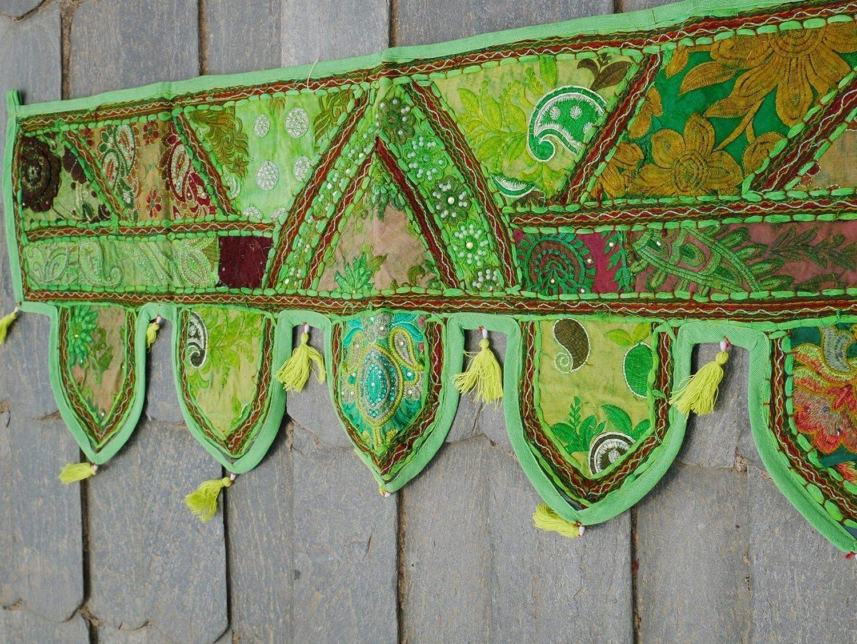 46x42 Indian Wedding door art spring easter door decoration door frame valance tribal gypsy bohemian Door Valance topper tapestry toran