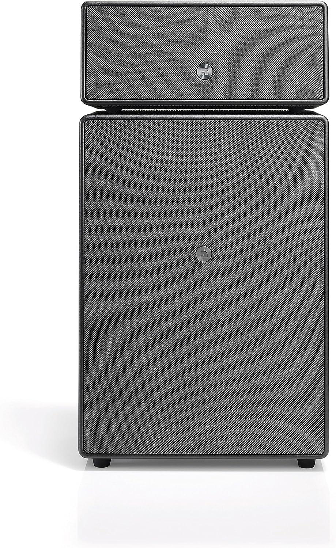 Audio Pro Drumfire High Fidelity WiFi Bluetooth Wireless Multi-Room Speakers Compatible with Alexa, Computers, Laptop, Desktop, Cellphone & Tablet - Black
