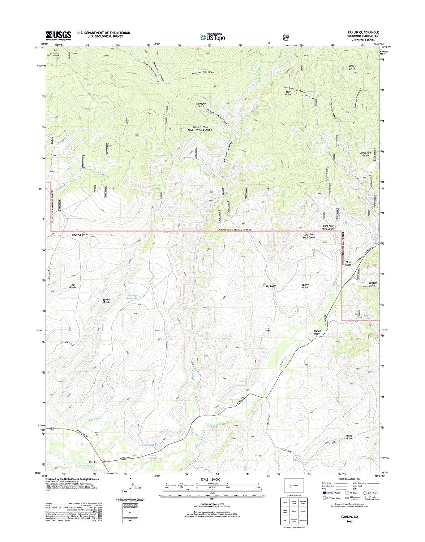 地形 – マップポスターParlin、Co TNM GEOPDF 7.5 X 7.5グリッド24000-scale TM 2011 19