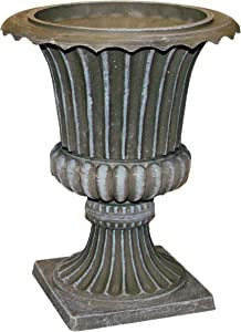 Exaco Trading Co. FM-013 Exaco Endura Clay Imperial Urn Planter, Grey