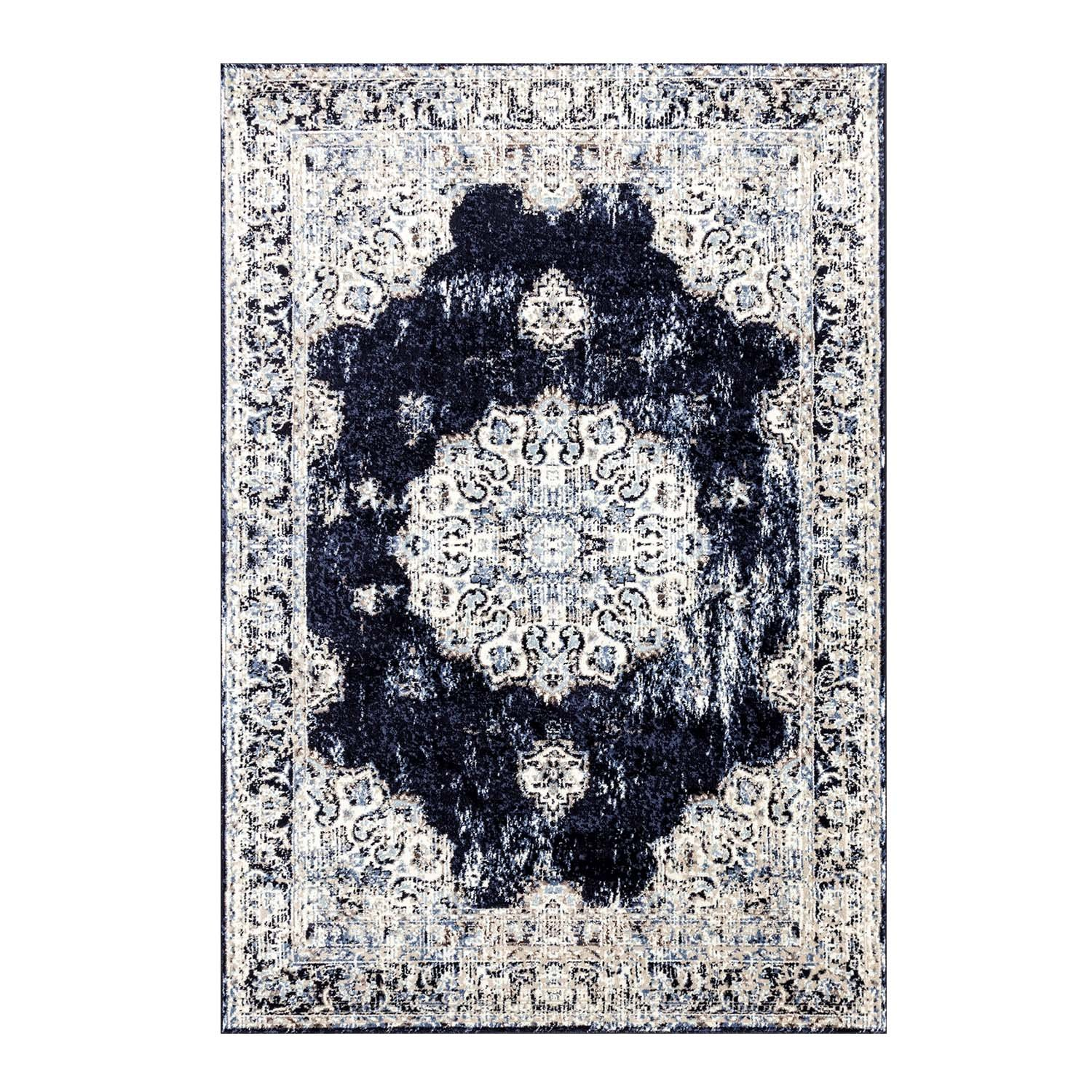 Ladole Rugs Anatolia Polypropylene Beautiful Made from Europe Durable Area Rug Carpet in Ivory, 2x3 (2' x 3'3, 60cm x 100cm) 2x3 (2' x 3'3