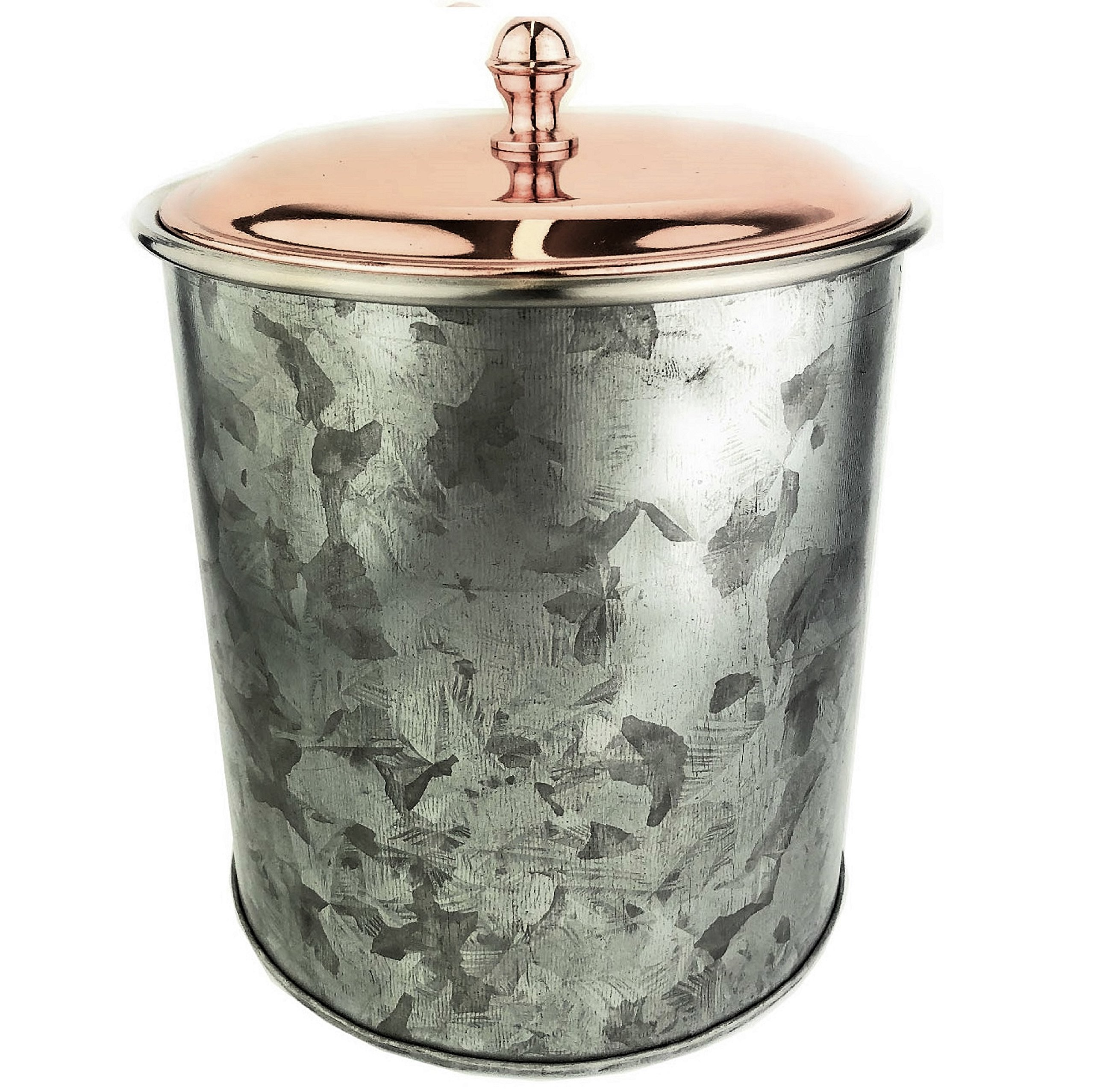 Galrose ICE BUCKET WINE CHAMPAGNE BOTTLE COOLER - Double Wall Heavy Duty Galvanized Iron/ Stainless Steel Lined Drinks Chiller with Rose Gold finished Lid Unique Industrial Chic Look Great Gift Idea by Galrose Dezigns