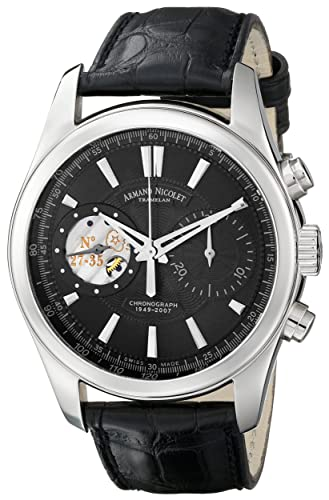 Armand Nicolet Men s 9649A-NR-P964NR2 L07 Limited Edition Hand-Wind Classic Watch