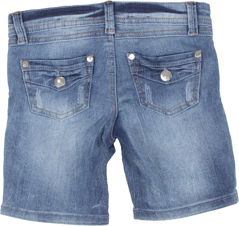 Girls/' Stretch 5 Pockets Ripped Premium Bermuda Denim Jeans Shorts
