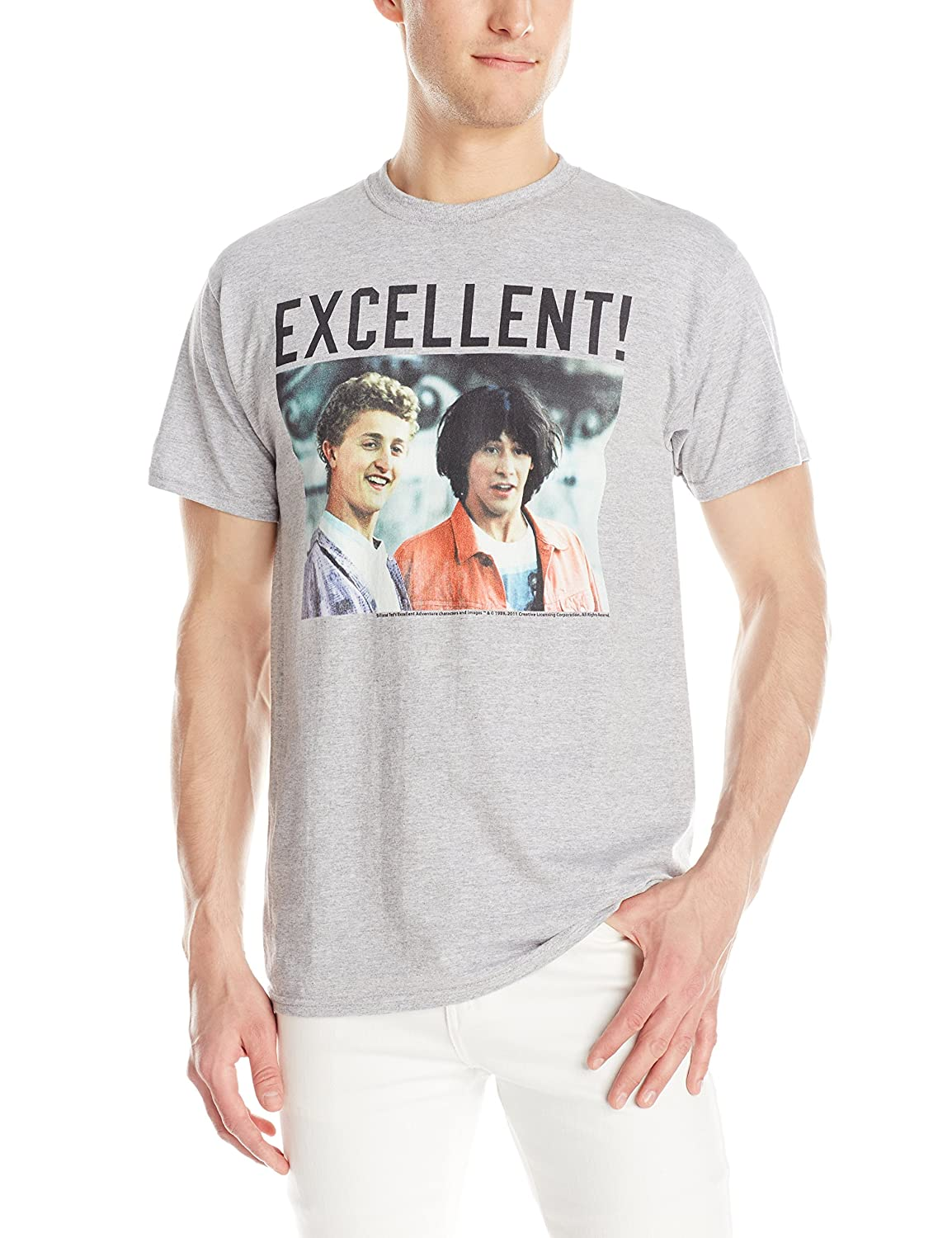 American Classics Men's Bill and Ted's Excellent Adventure T-Shirt Grey Heather Large BNT516