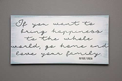 Hand painted If you want to bring happiness canvas wall art