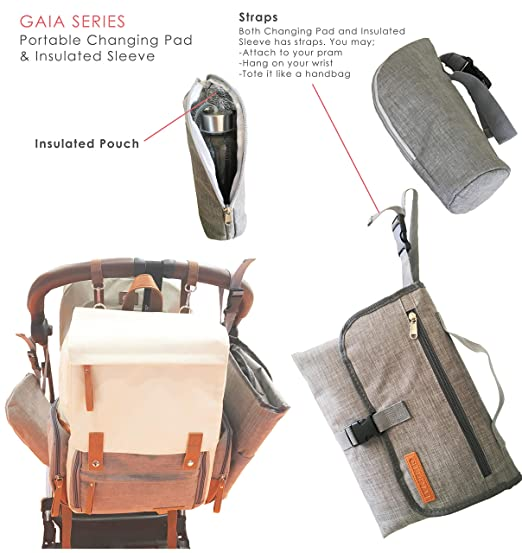 c7f71b45256c Amazon.com   Baby Diaper Bag Backpack for Mom Dad (Unisex Design) with  Leather Details