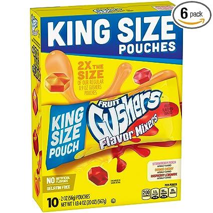 Betty Crocker Fruit Snacks gushers Sabor mezcladoras, 10 ...
