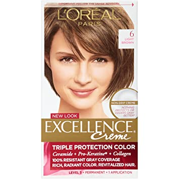Amazon.com : L\'Oreal Excellence Creme, Light Brown [6] 1 Each ...