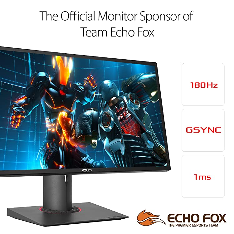 "ASUS ROG SWIFT PG248Q 24"" Full HD 1ms 180Hz DP HDMI Eye Care G-SYNC eSports Gaming Monitor"