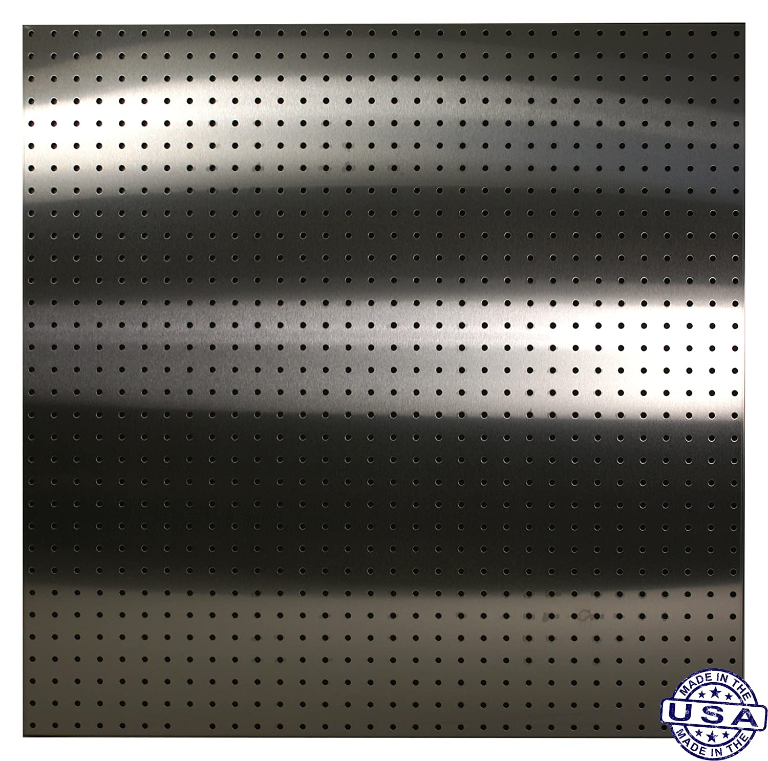 Stainless Supply Stainless Steel Pegboard 2-pack 16x32-430 - Selected Size: Various Sizes Available; See Drop Down Menu