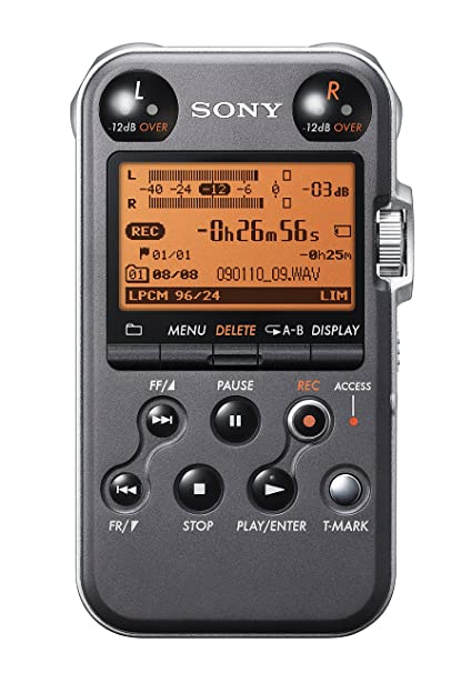 Sony PCM-M10 Portable Linear PCM Voice Recorder with Electret Condenser  Stereo Microphones, 96 kHz/24-bit, 4GB Memory & USB High-Speed Port - Black